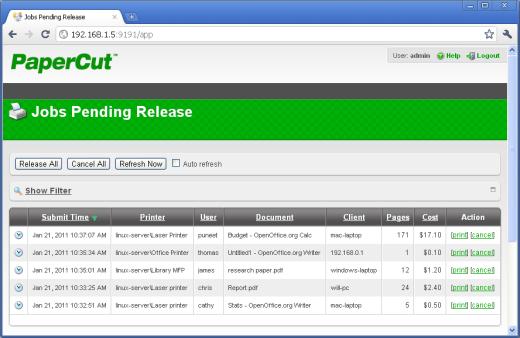 Web based release station