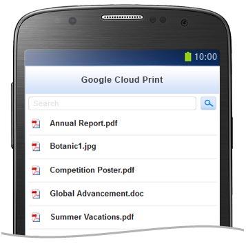 GCP Print Jobs List.