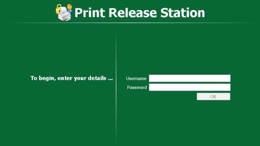Release station login screen