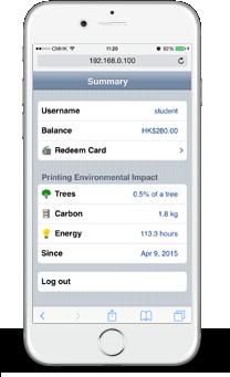移動設備用戶介面 - 帳戶結餘, 環境影響