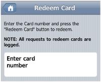 移動設備用戶介面 - 充值卡/儲值卡充值介面