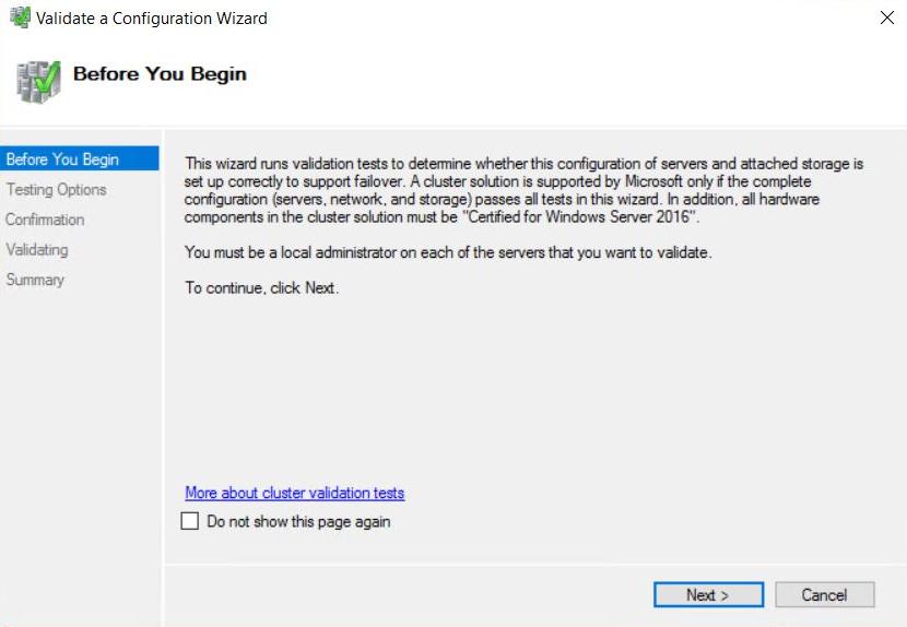 Microsoft Failover Cluster Manager (MSFCM) on Windows server