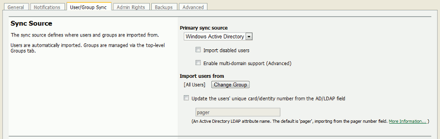 User and Group Synchronization